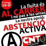 Davant les eleccions ni votar ni quedar-se a casa: ABSTENCIÓ ACTIVA