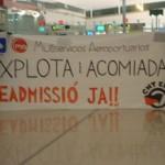 Concentració per la readmissió del delegat de CNT a Multiservicios Aeroportuarios
