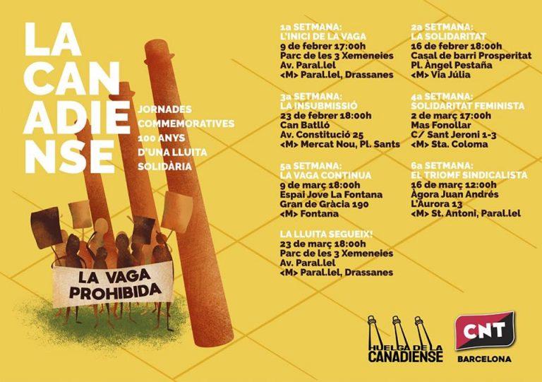 Jornadas conmemorativas: 100 años de la huelga de la Canadiense @ Can Batlló