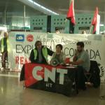 La sección sindical en Multiservicios Aeroportuarios denuncia en rueda de prensa las prácticas de contratación fraudulenta de esta empresa