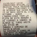 OTRA CHAPUZA DE LA MESA TÉCNICA DEL TAXI