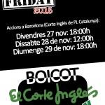 Black Friday: fin de semana de lucha contra El Corte Inglés