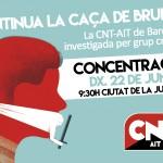 Concentració contra la criminalització de la CNT-AIT de Barcelona