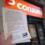 Inici de les accions solidàries contra l'empresa CONSUM