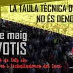 [ TAXI ] El 5 de Maig, NO VOTIS! Per la unió de totes les treballadores i treballadors del Taxi!